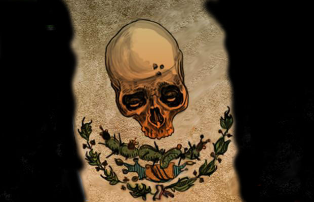 bandera-negra-calavera-mexico