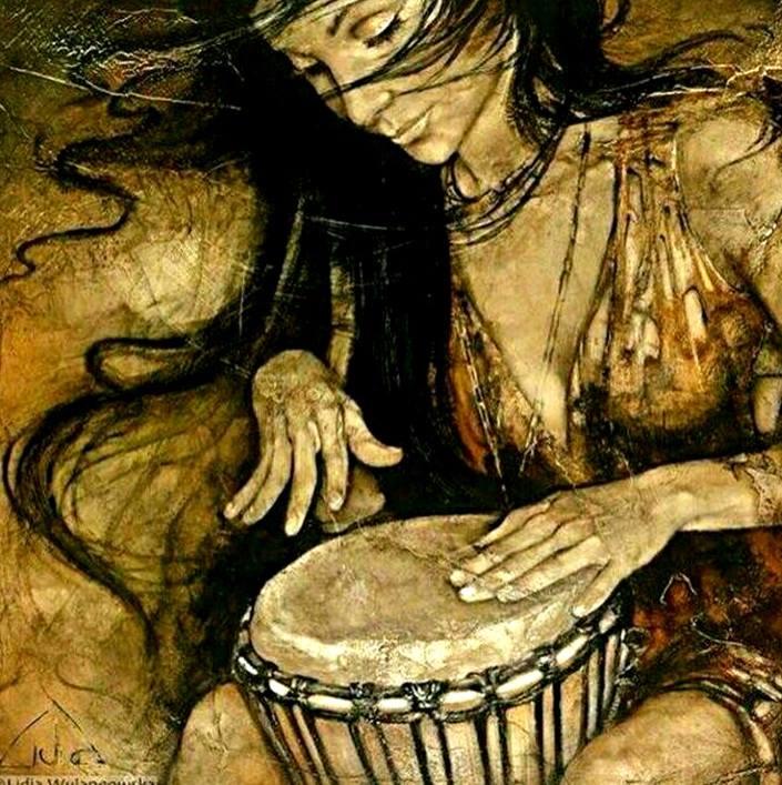mujer-y-tambor