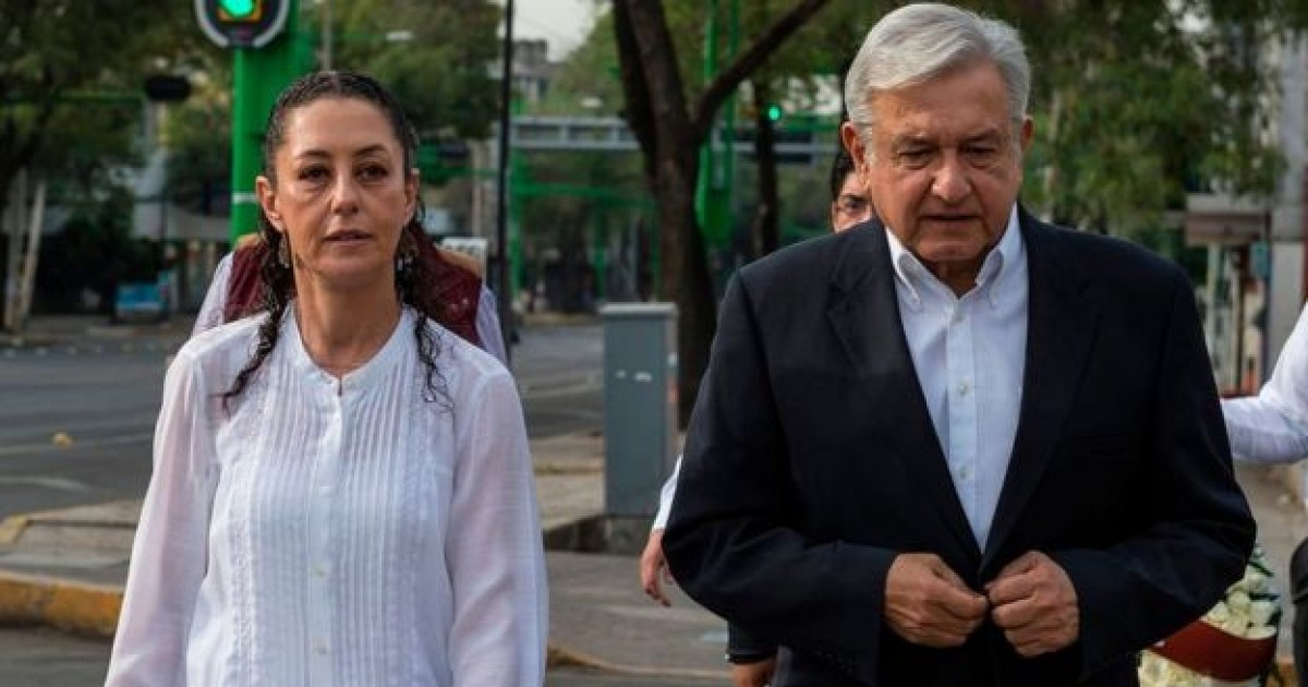 Claudia Sheinbaum y López Obrador