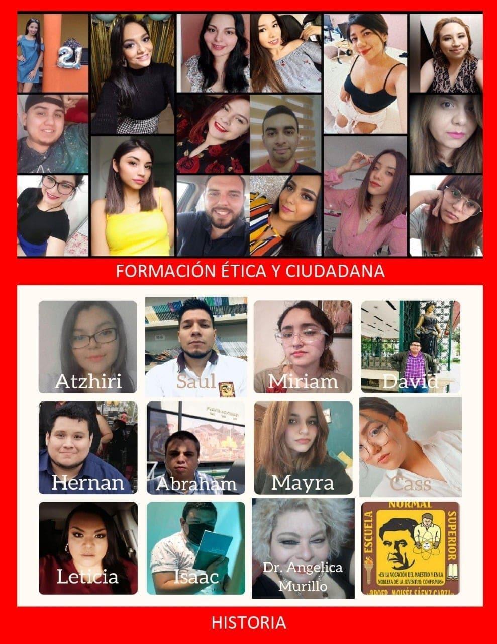 alumnos de las Especialidades de Formación Ética y Ciudadana e Historia de la ENSPMSG