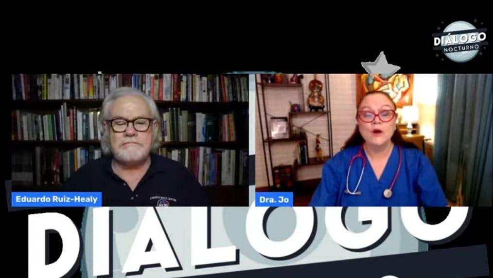 Esta noche, la Dra. Jo nos informa sobre Casos de covid pediatrico en la última semana / Regreso... – Diálogo Nocturno